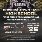 East Choir to Perform National Anthem for Philadelphia Wings Lacrosse